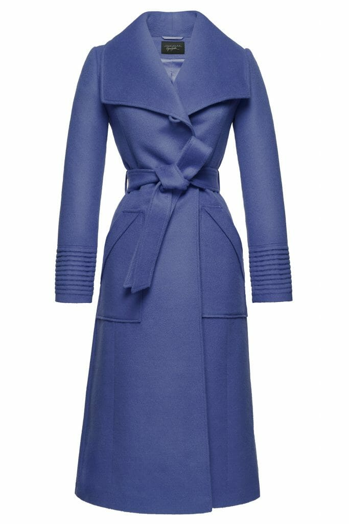 Sentaler Luxury Outerwear Long Wide Collar Wrap Coat True Blue Off Figure Gift Guide of Splendidly Beautiful Things and Experiences - EAT LOVE SAVOR International luxury lifestyle magazine and bookazines