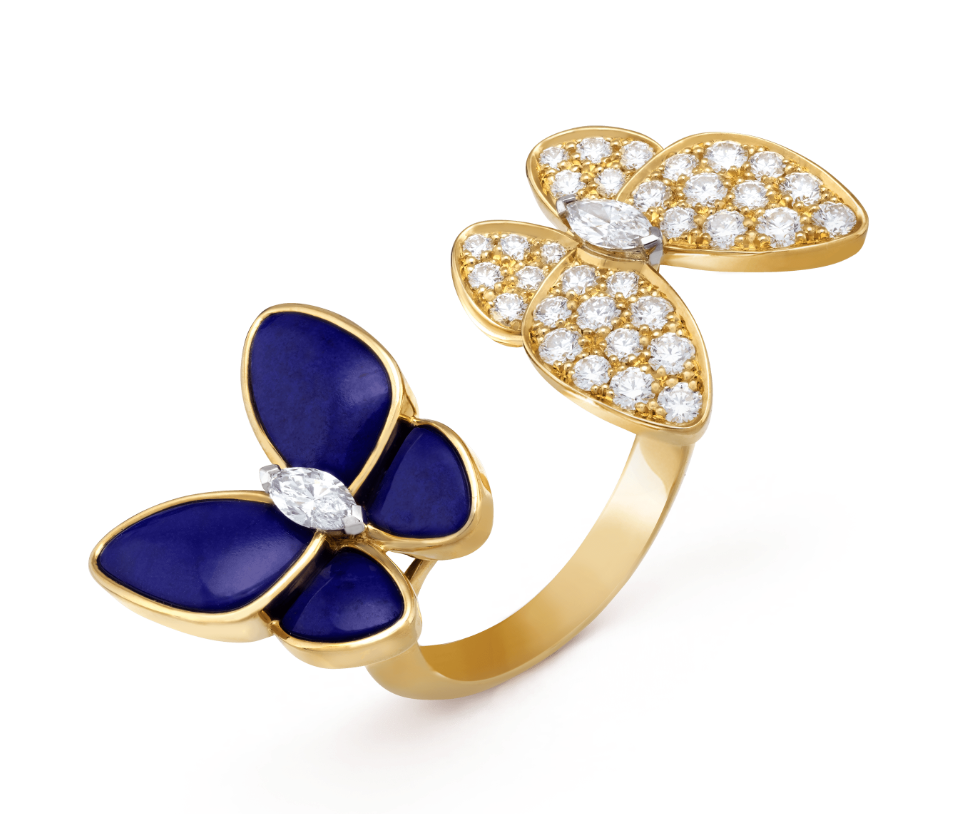 two butterfly lapis ring van cleef arpels