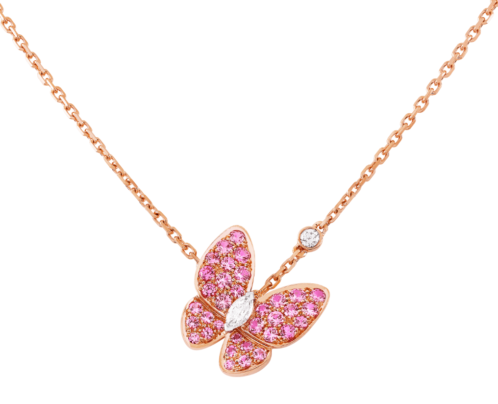 van cleef and arpels two butterfly pendant