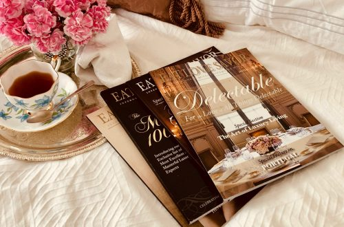 magazines on bed cropped vivid warm Letter from the Publisher:  Love Before Money. Passion and Purpose in Modern Publishing: EAT LOVE SAVOR, A True Luxury Love Story - EAT LOVE SAVOR International luxury lifestyle magazine and bookazines