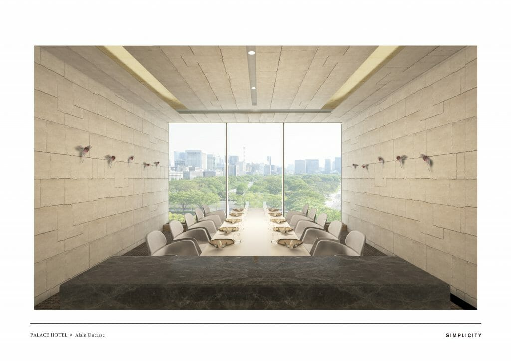 ESTERRE by Alain Ducasse at Palace Hotel Tokyo RENDERING II Chef Alain Ducasse To Debut New Restaurant at Palace Hotel Tokyo - EAT LOVE SAVOR International luxury lifestyle magazine and bookazines