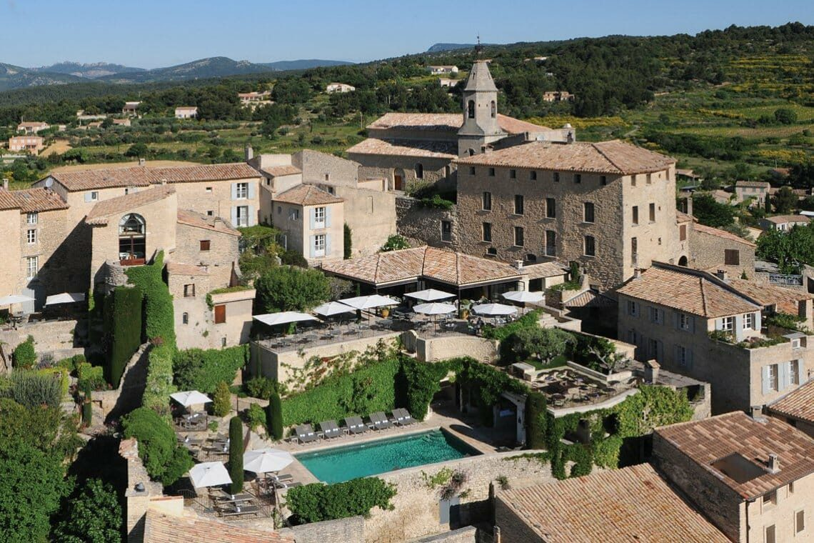 Hotel Crillon le Brave exterior Hotel Crillon le Brave, Provence, Re-Opens Following a Full Redevelopment EAT LOVE SAVOR International luxury lifestyle magazine and bookazines