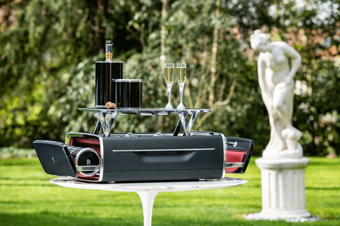 The Rolls Royce Champagne Chest al fresco For Epicurean Pleasures Discover the Champagne Chest by Rolls-Royce Motorcars - EAT LOVE SAVOR International luxury lifestyle magazine and bookazines