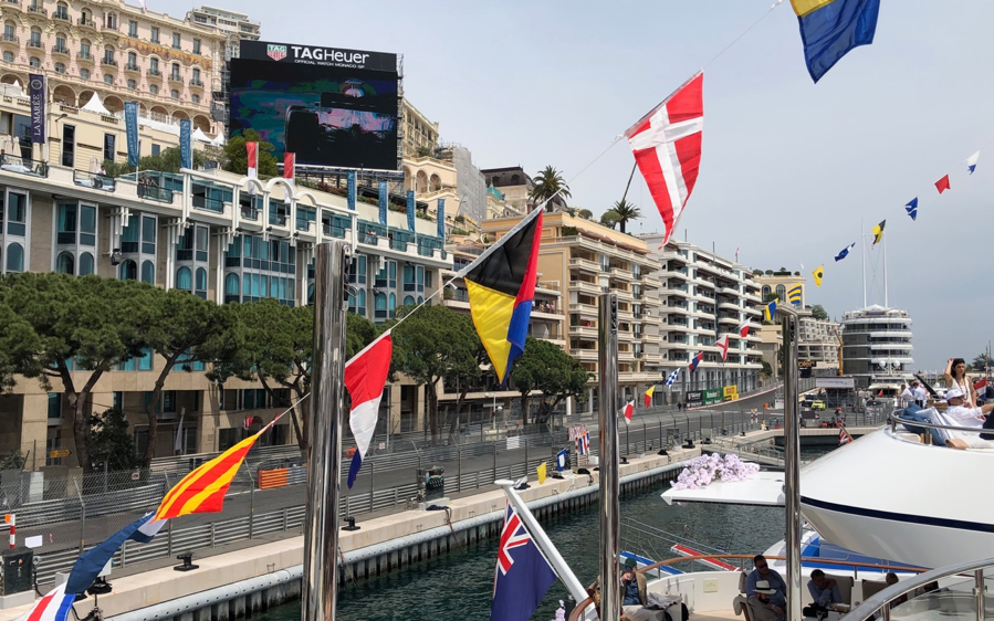 Trackside views An Out-Of-This-World Weekend at 77th Monaco F1® Weekend with Axiom Space Inc., SFJ Group, Crescent, Chateau d'Esclans, Champagne Regi & more aboard M/Y Skyfall with PA2F - EAT LOVE SAVOR International luxury lifestyle magazine and bookazines