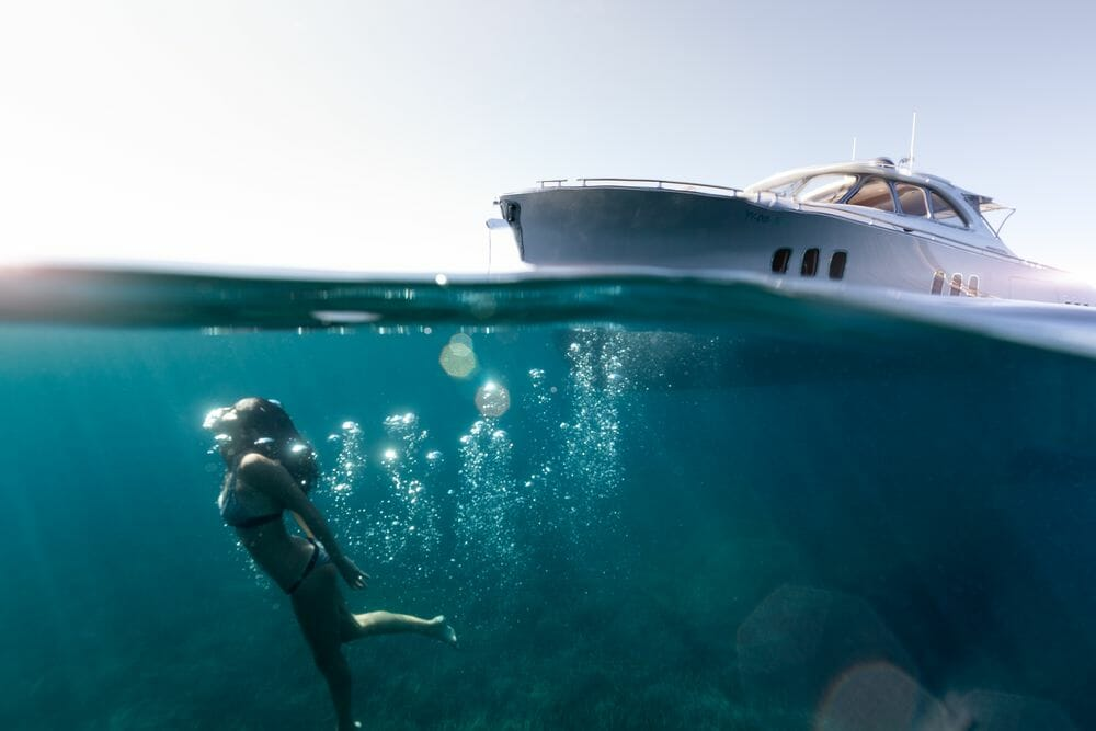 Photo by Jeff Brown for Zeelander underwater The ultimate girlfriend's getaway: From scuba diving to boutique shopping on a luxury yacht charter - EAT LOVE SAVOR International luxury lifestyle magazine and bookazines