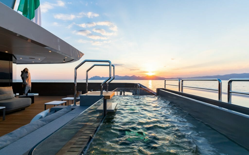 Theres no better place to chat with your girlfriends then in a Jacuzzi pool at sunset The ultimate girlfriend's getaway: From scuba diving to boutique shopping on a luxury yacht charter - EAT LOVE SAVOR International luxury lifestyle magazine and bookazines