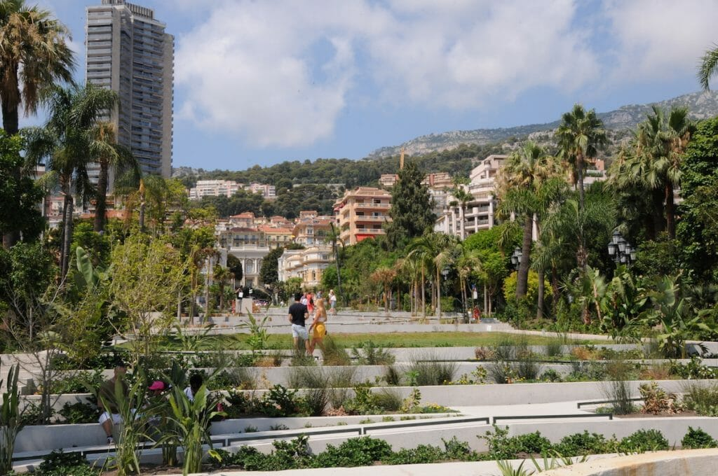 Casino garden and terrace top view Lovingly restored; the Casino Gardens of Monaco returned to their former glory - EAT LOVE SAVOR International luxury lifestyle magazine and bookazines