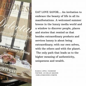eat love savor luxury lifestyle magazine testimonial