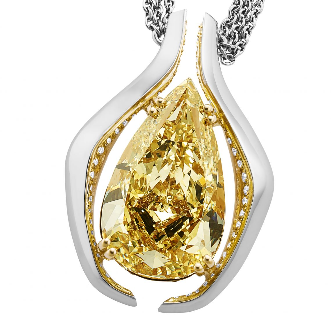 Diamond pendant 1 Bentley Celebrates Centenary with an Exceptional Masterpiece Jewel - EAT LOVE SAVOR International luxury lifestyle magazine and bookazines