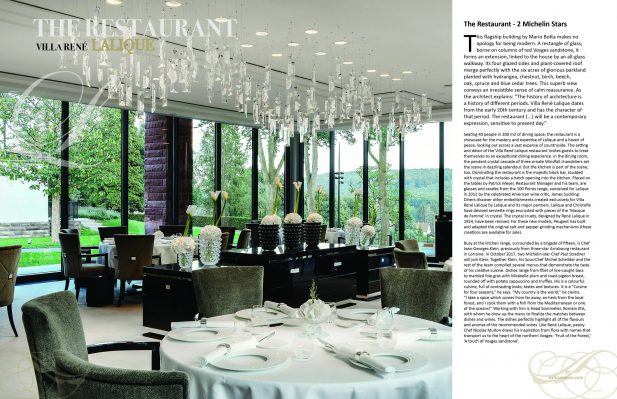 2 page spread lalique villa Delectable issue scaled Edition #5 - Travel & Escape - EAT LOVE SAVOR International luxury lifestyle magazine and bookazines