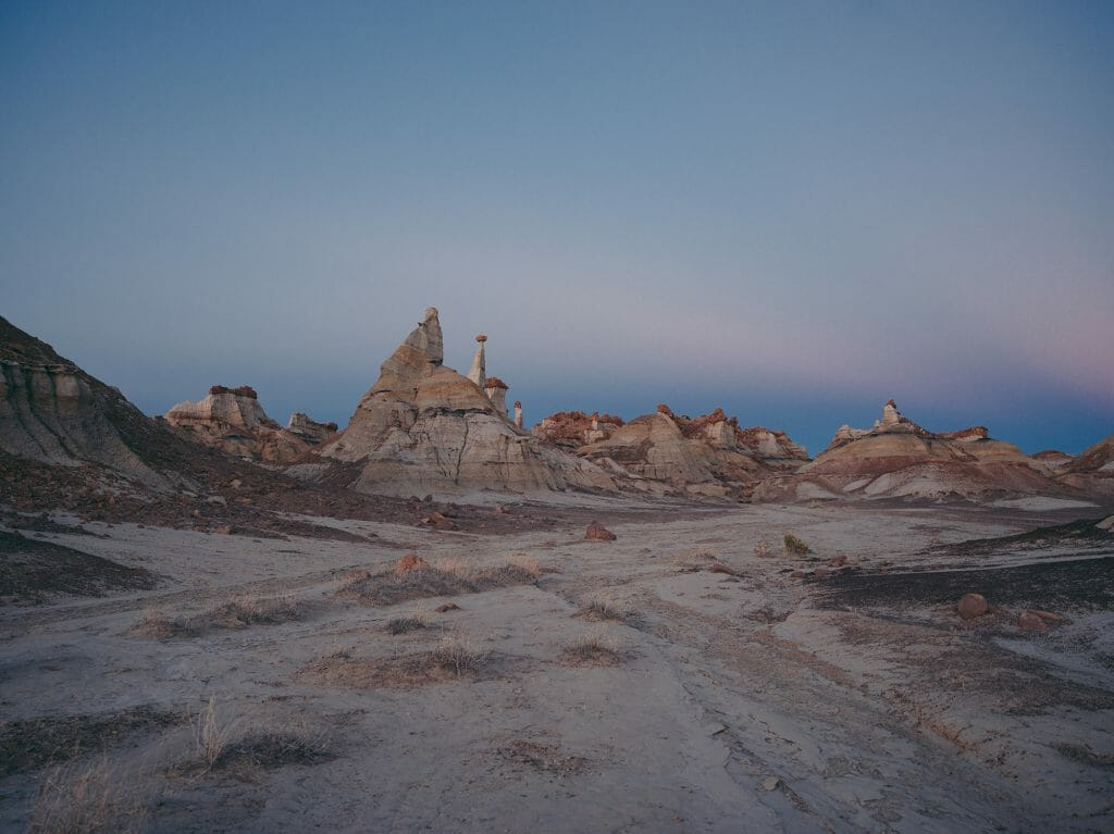 Badlands Before Dusk New Mexico Desert Solitude: Portrait of Hasselblad Heroine Chiara Zonca - EAT LOVE SAVOR International luxury lifestyle magazine and bookazines