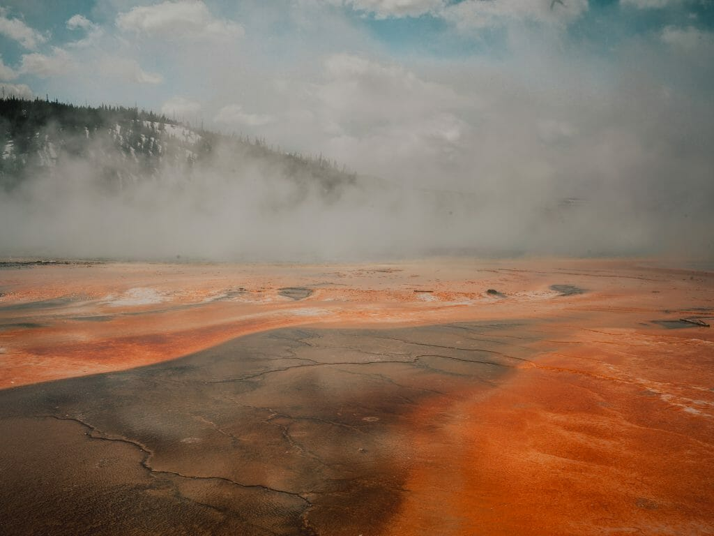 Yellowstone Park Grand Prismatic Spring Desert Solitude: Portrait of Hasselblad Heroine Chiara Zonca - EAT LOVE SAVOR International luxury lifestyle magazine and bookazines