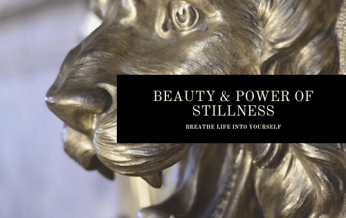 BEAUTY POWER OF STILLNESS Banner
