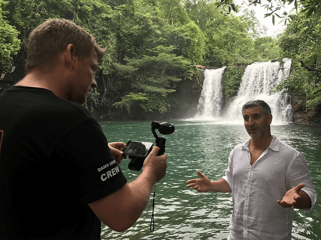 richard on location While the World Takes a Breath, New Eco-Luxury Travel Show 'Leave No Trace' Inspires and Informs the Discerning Traveller - EAT LOVE SAVOR International luxury lifestyle magazine and bookazines