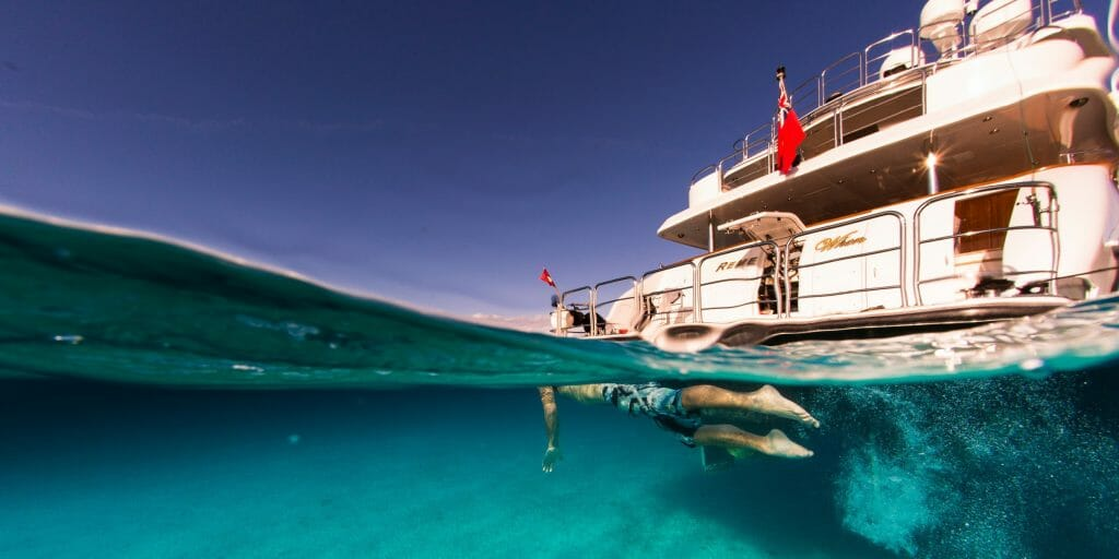 Diving snorkelling and enjoying the wide selection of toys the yacht has on offer