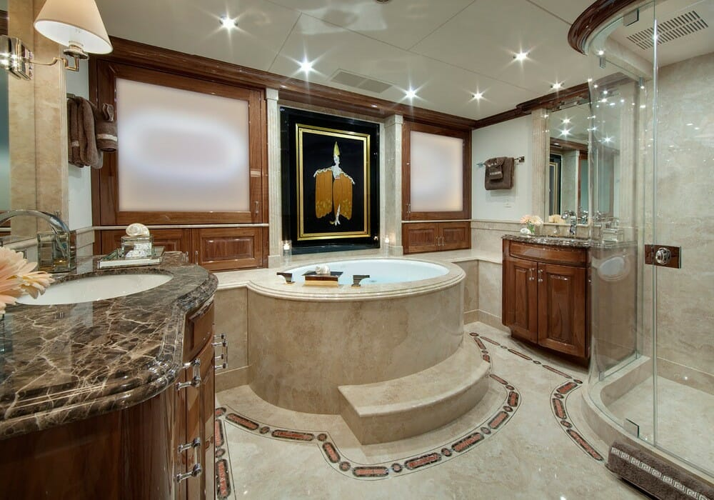 Marble bathrooms with luxury amenities