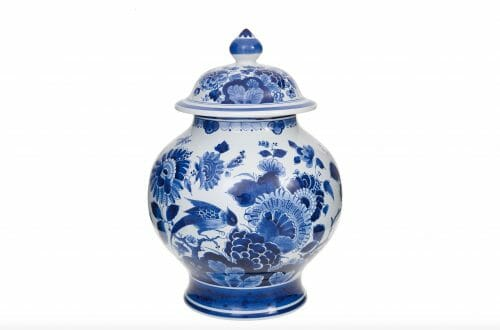 blue vase with lid royal delft Timeless Luxury - Blue and White Porcelain: Discover Royal Delft EAT LOVE SAVOR International luxury lifestyle magazine and bookazines