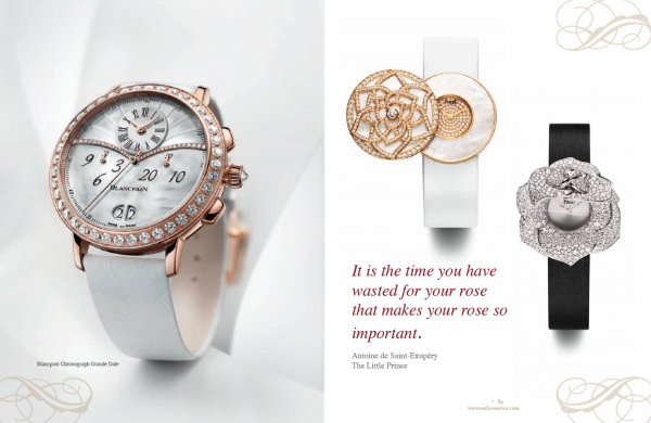 luxury of time spread rose watches Luxury of Time Edition - EAT LOVE SAVOR International luxury lifestyle magazine and bookazines