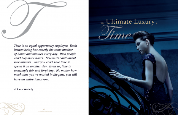 luxury of time spread ultimate Luxury of Time Edition - EAT LOVE SAVOR International luxury lifestyle magazine and bookazines