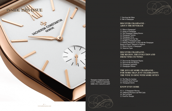 luxury of time table of contents Luxury of Time Edition - EAT LOVE SAVOR International luxury lifestyle magazine and bookazines