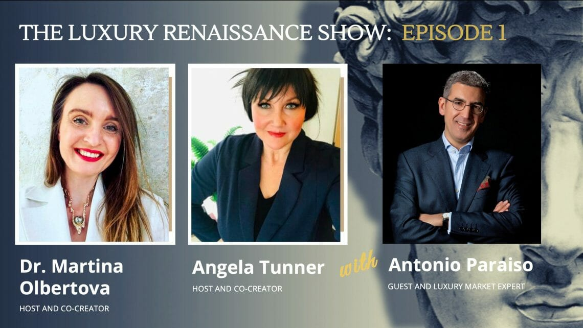 E1 COVER The Luxury Renaissance Show, Episode 1: Highlights and Key Learnings EAT LOVE SAVOR International luxury lifestyle magazine and bookazines
