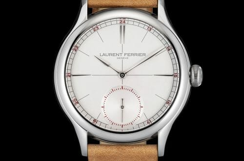 LF Classic Origin Opaline Soldier Black background LR Discover Laurent Ferrier Geneve Classic Origin Opaline for Him EAT LOVE SAVOR International luxury lifestyle magazine and bookazines