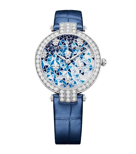 harry winston metiers dart blue 745x845 1 Harry Winston Metier D'Art Limited Edition Jeweled Timepiece for Her - EAT LOVE SAVOR International luxury lifestyle magazine and bookazines