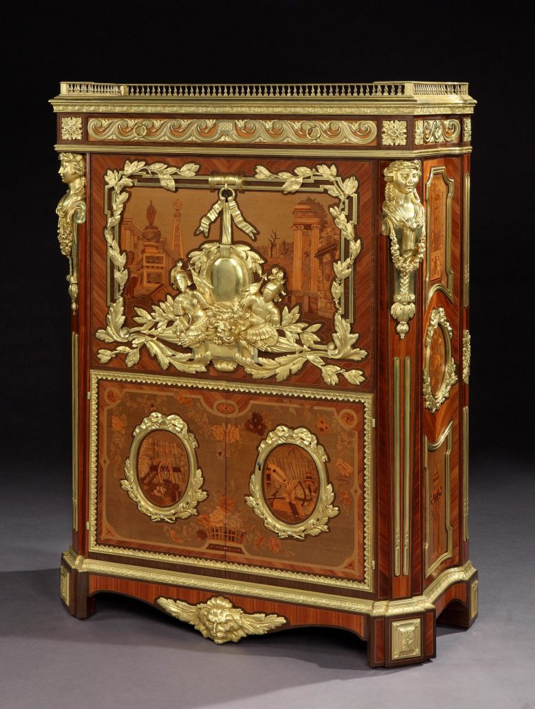 8114 Secretaire after a design by Foullett The Story of an Exquisite and Rare Antique Secretaire - EAT LOVE SAVOR International luxury lifestyle magazine and bookazines