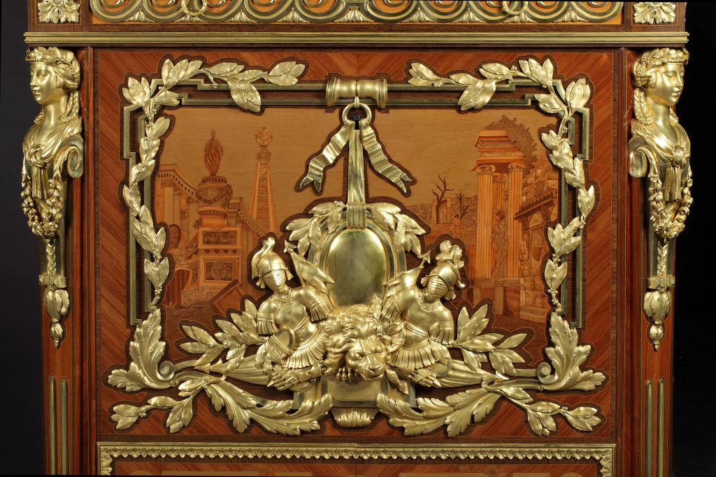 8114 Secretaire after a design by Foullett central panel The Story of an Exquisite and Rare Antique Secretaire - EAT LOVE SAVOR International luxury lifestyle magazine and bookazines