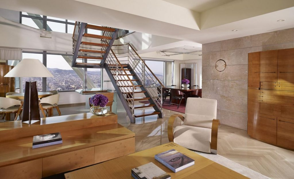 three bedroom luxury penthouse living room 1688